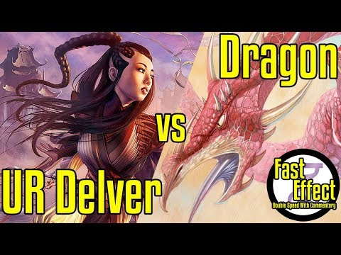 UR Delver VS Dragon | Legacy Magic: The Gathering W/Commentary | Brainstorm MTG | Fast Effect