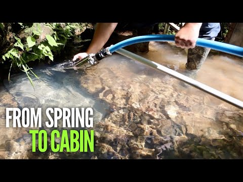 Off Grid Water Supply - From Spring To Cabin! How We DID IT! EP#20