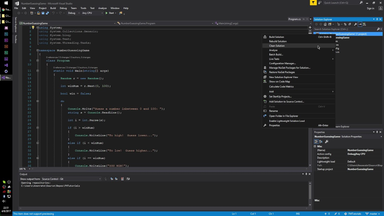 How To Add An Existing Project To Your GitHub Repo With Visual Studio