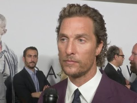 Matthew McConaughey reacts