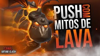 The BEST LAVA PUSHANDO HOUND to BRS VIVÃO in CLASH ROYALE!
