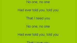 Brianna All I Need Lyrics