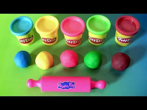 Thumbnail: Learn Colors Peppa Pig Play-Doh Egg Surprise with Dough Stampers Spiderman by Funtoyscollector