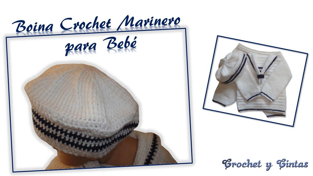 Boina Crochet para Bebé - YouTube