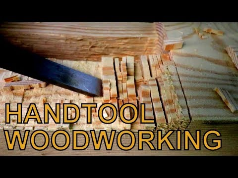 Oddly Satisfying Video| Timber Frame Work with Hand Tools