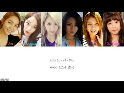After School - Diva (Color Coded Lyrics) [Han/Eng/Rom]