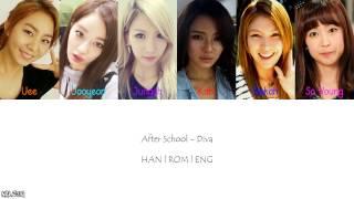 After School - Diva (Color Coded Lyrics) [Han/Eng/Rom]