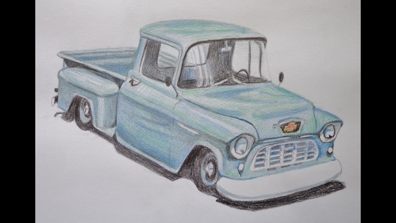 Old Lifted Trucks >> Speed drawing of a truck - YouTube