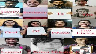 Happy Birthday Sonu Nigam Ji   Fans Wishing Legend Happy Birthday   2021   @Sonu Nigam 🎂 🎉