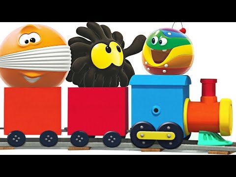 WonderBalls on Choo Choo Train   Learn Colors with Colorful Trains by Cartoon Candy