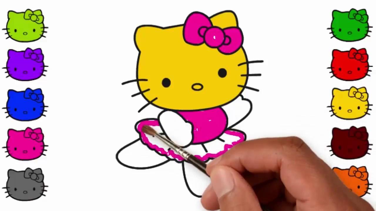 Hello Kitty Cara Menggambar Dan Mewarnai Hello Kitty Untuk Anak