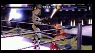 Rumble Roses. Reiko Hinomoto vs Dixie Clements xbox 360 ps 3 ps 2
