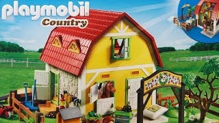 Large Horse Farm with Paddock / Stadnina Koni 5221 - Country - Playmobil - www.MegaDyskont.pl