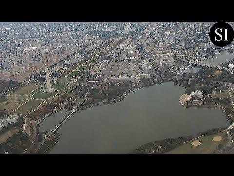 Taking Off From Washington, DC | Aerial View Of DC Landmarks | DCA | Ronald Reagan Airport | 4K