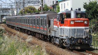 【甲種輸送】 DE10-1666+東急3000系 6両 矢部~淵野辺通過