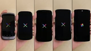 Nexus 5 vs. Nexus 4 vs. Galaxy Nexus vs. Nexus S vs. Nexus One
