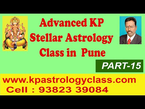 Advanced KP Astrology in English, KP Astrology classes in English - 15