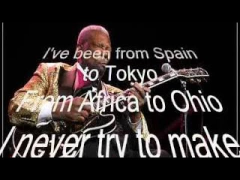BB King Never Make A Move Too Soon (from 1977, with lyrics) | 2017