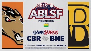 #ABLSF GAME THREE | Canberra Cavalry @ Brisbane Bandits