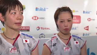 Yuki Fukushima/Sayaka Hirota - Interview after QF Match | Indonesia Open 2018