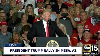 FULL RAW: President Trump ignites crowd at during speech at Make America Great Again Rally in AZ