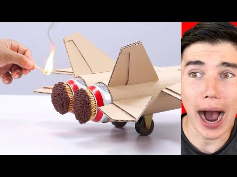 COOL MATCHES POWERED CARDBOARD DOUBLE JET!