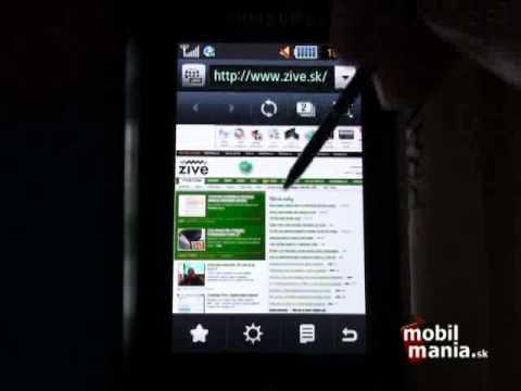 Samsung S8000 Jet: Web