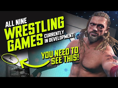 9 New Wrestling Games Currently In Development! (WWE, AEW, Yukes & More)