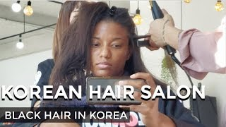 BLACK GIRL gets hair done in Korea (amazing results)