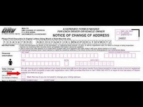 Change of Address DMV 14 - YouTube