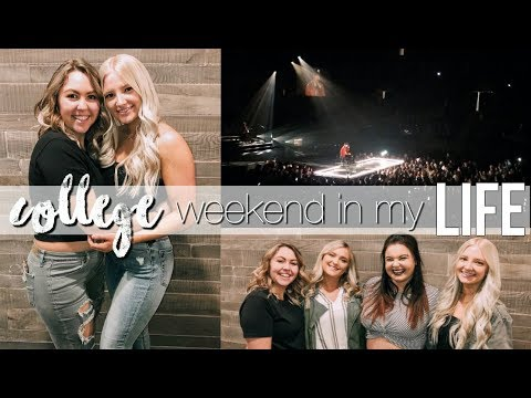 college weekend in my life: workouts, Kane Brown concert, + meet my friends!
