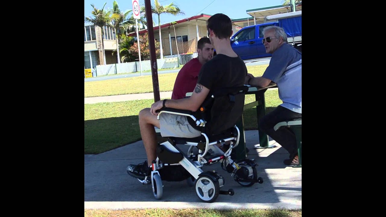 The panion Travel Folding Electric Wheelchair