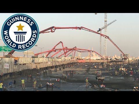 CONMIX achieved Largest Continuous Concrete Pour - Guinness World Records