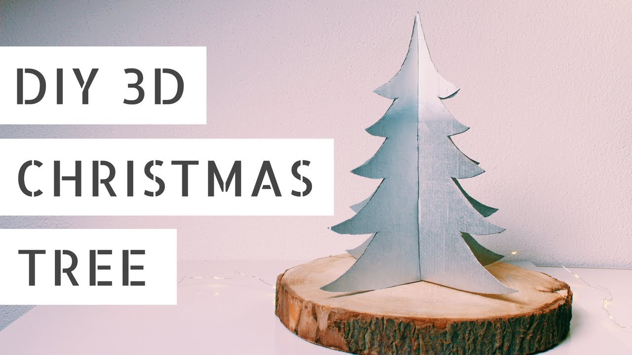 Cardboard Christmas Tree.Diy 3d Cardboard Christmas Tree