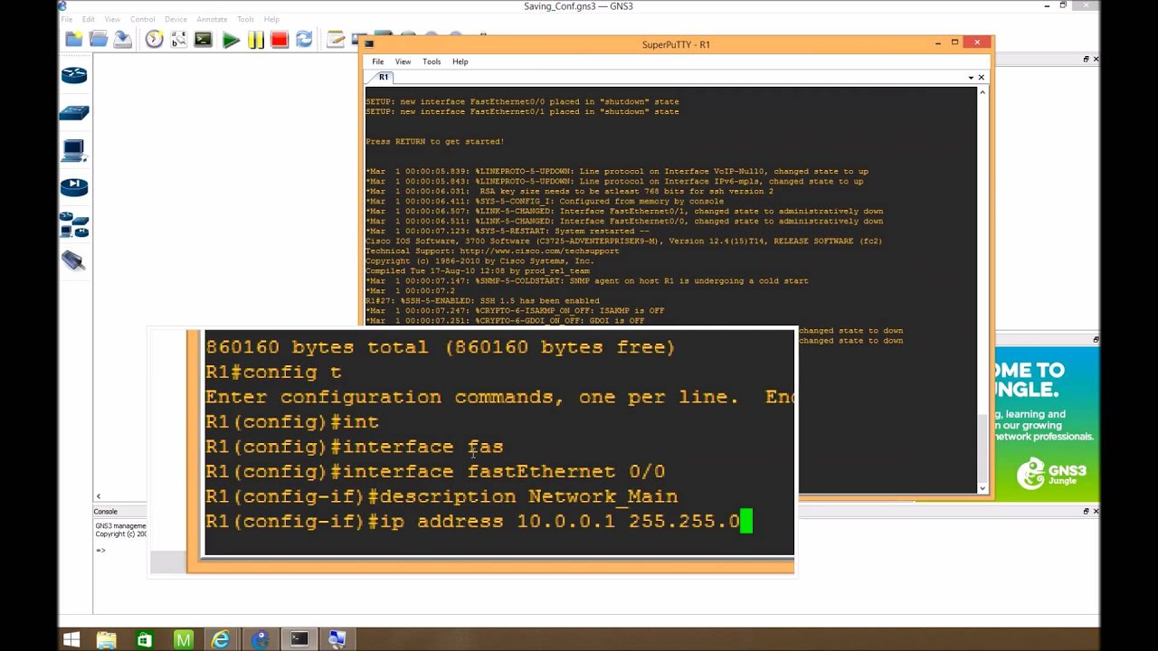 Creating and Configuring Routers on GNS3 1 1