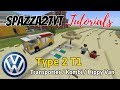 Minecraft Volkswagen VW Type 2 T1 Transporter Kombi Hippy Van Tutorial