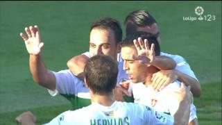 Resumen de Elche CF vs Rayo Vallecano (2-1)