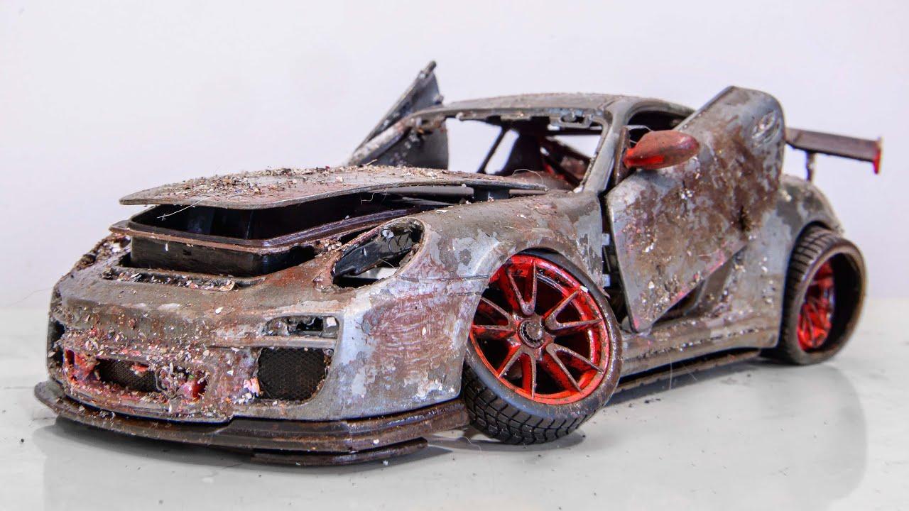 Restoration Abandoned Porsche 911 GT3 RS Tuning Model Car