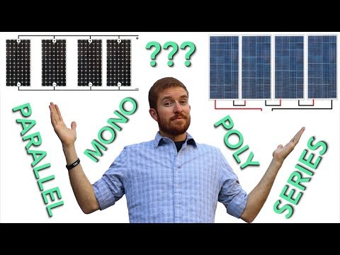 Mono vs Poly vs Flexible Solar Panel + Series vs Parallel Wi