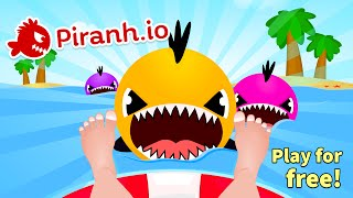 PIRANH.IO WORLD BIGGIEST FISH CHALLENGE (NEW IO GAME LIKE AGAR.IO / SLITHER.IO)