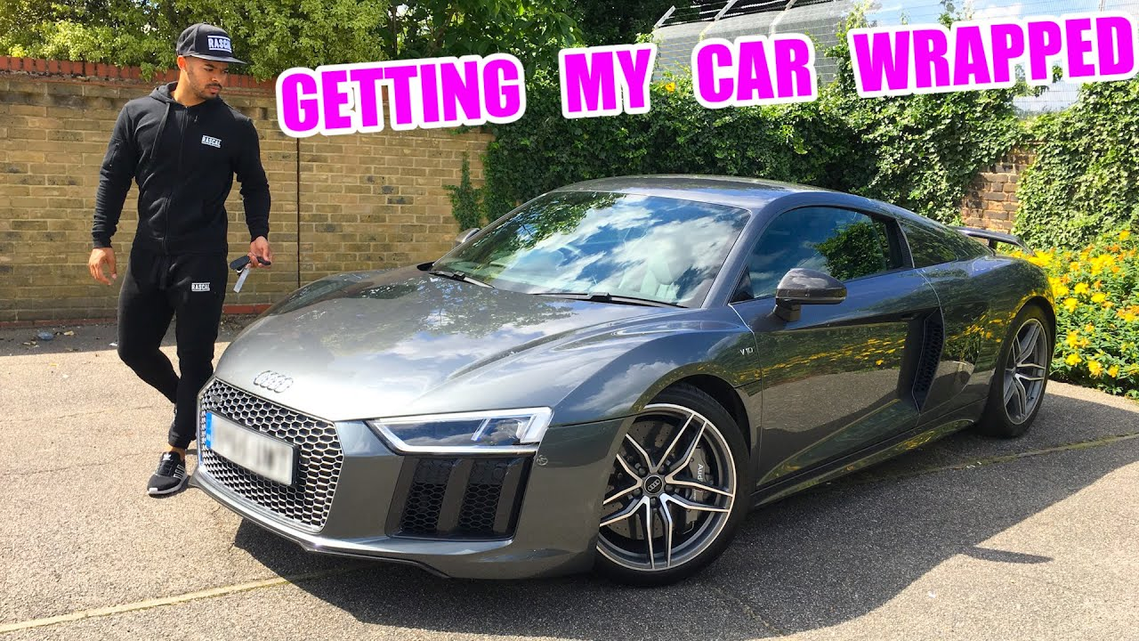 wrapping my new audi r8 youtube. Black Bedroom Furniture Sets. Home Design Ideas