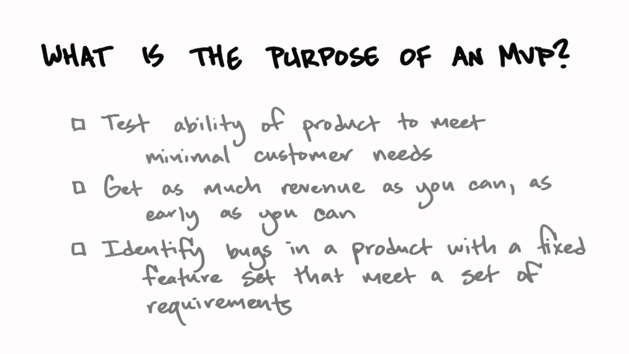 Purpose Of MVP - How to Build a Startup