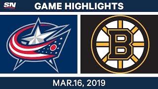 NHL Highlights | Blue Jackets Vs Bruins – Mar 16, 2019