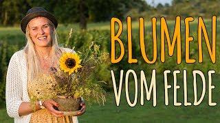 BLUMEN VOM FELDE - 1.30€ FÜR EIN NATÜRLICHES BLUMENGESTECK - DIY