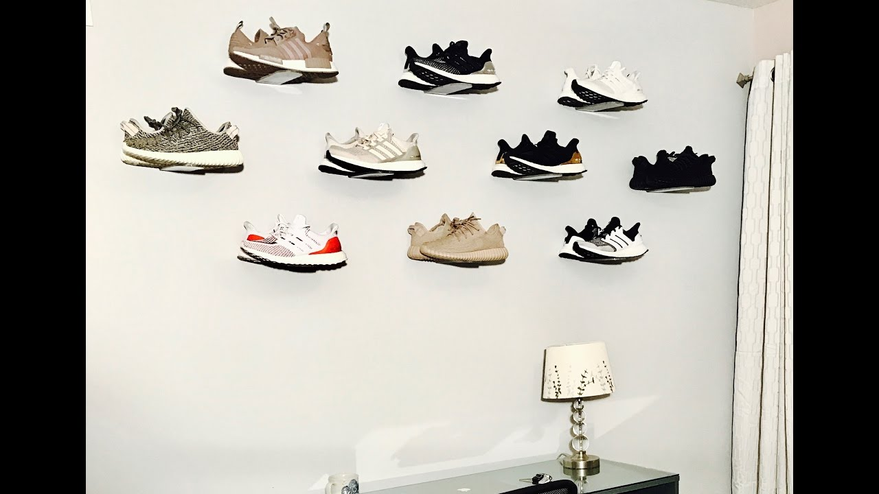 how to display your sneakers on the wall  with