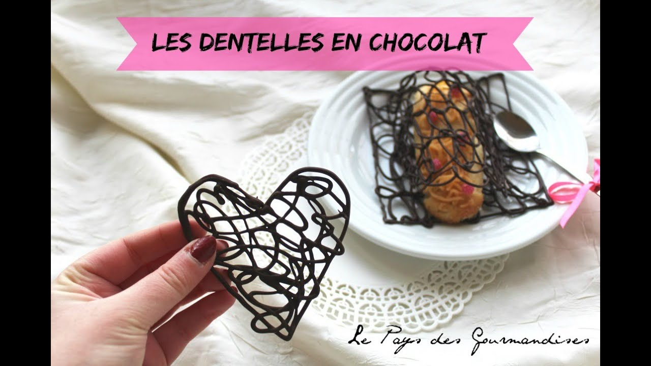 Réaliser Des Dentelles En Chocolat Youtube
