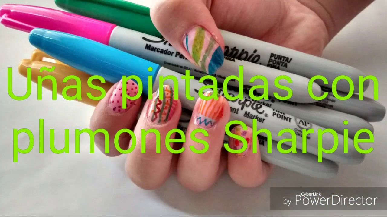Uñas pintadas con Sharpie - YouTube