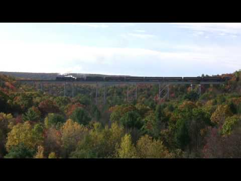 Reading & Northern #425 - At The Hometown Pa Trestle