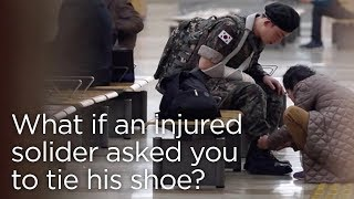 What If an Injured Soldier Asked You to Tie His Shoe? ENG SUB • dingo kdrama