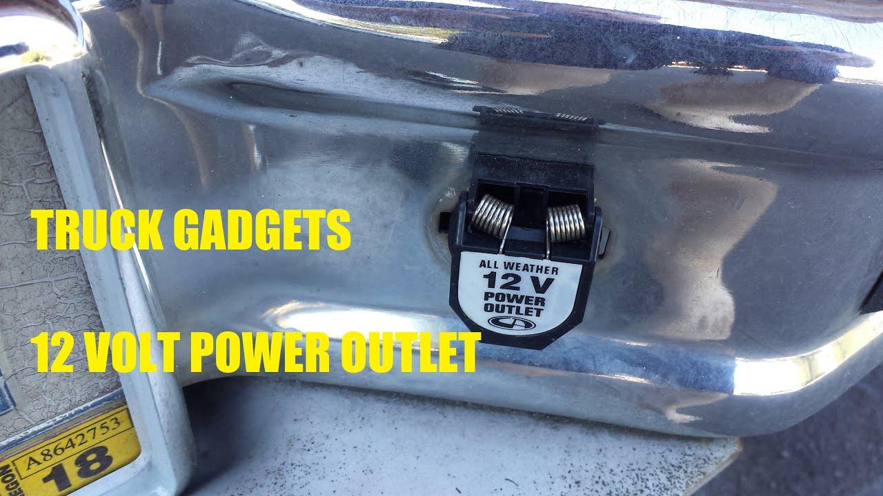Truck gadgets external 12 volt power outlet youtube truck gadgets external 12 volt power outlet sciox Gallery